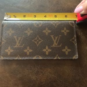 Authentic Louis Vuitton checkbook cover.
